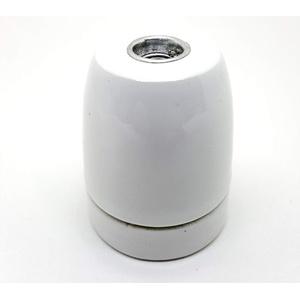 Lampenfassung Porzellan E27 weiß