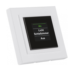 Homematic Funk-Display-Wandtaster mit Grafikdisplay | HM-PB-4Dis-WM-2