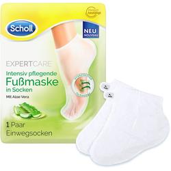 Scholl Fußmaske Expert Care Intensiv pflegend mit Aloe Vera, in Socken