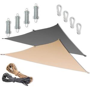 MW Handel Sonnensegel Dreieck 300 x 300 x 300 cm mit Befestigungsmaterial (beige)