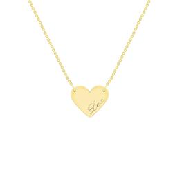 Goldanhänger in Herz-Form mit personalisierter Gravur Atalia