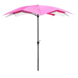 Leco BLÜTE Sonnenschirm Ø 270cm Balkonschirm Kurbelschirm pink