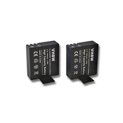 2 x vhbw Li-Ion Akku Set 900mAh (3.7V) für Videokamera Sportkamera Camcorder DBPower EX4000, EX5000 wie SJ4000.