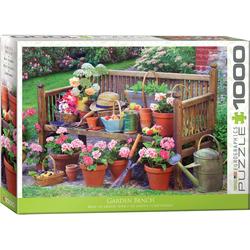 empireposter Puzzle Die farbenfrohe Landleben - Gartenbank - 1000 Teile Puzzle im Format 68x48 cm, Puzzleteile