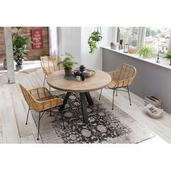 SIT Esstisch Tops&Tables, mit Massivholzplatte aus Mangoholz, runder Tisch natur