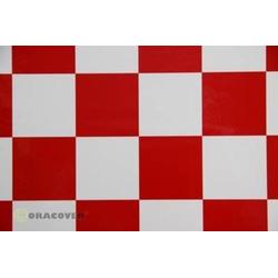 Oracover 491-010-023-010 Bügelfolie Fun 5 (L x B) 10m x 60cm Weiß, Rot