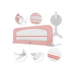 KESSER Bettschutzgitter, Babybettgitter Kinderbettgitter klappbar tragbar Kinderbett Rausfallschutz Bett & Boxspringbett 42cm Höhe Gitter für Babys und Kinder rosa 180 cm x 50 cm x 44 cm