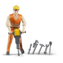 Bruder Bauarbeiter mit Zubehör 60020