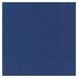Duni Zelltuch Servietten 33x33 3lg 1/4 dunkelblau - 4x250 Stück