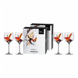Eisch Rotweinglas Burgunderglas groß 4er Set Superior Sensis plus, Kristallglas beige