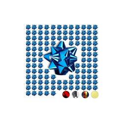 relaxdays Geschenkpapier Kleine Geschenkschleifen 100er-Set blau