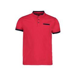 Lavard Rotes Polohemd mit Stehkragen 73862