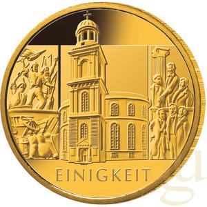 1/2 Unze Goldmünze - 100 Euro Einigkeit 2020 (J)