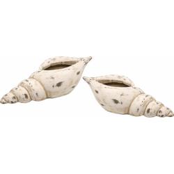 I.GE.A. Dekoschale Keramik-Schale Muschel (Set, 2)