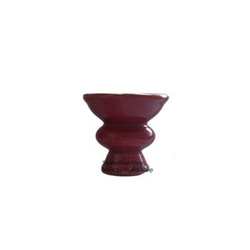 Nibo China Head Tabakkopf glasiert groß 7cm - Rot