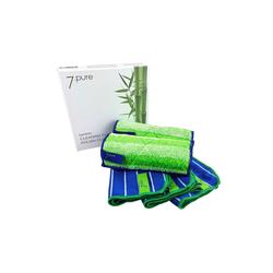 7pure Küchenhelfer-Set Bambus Putzlappen & Poliertuch SET, Putzen ohne Chemie grün