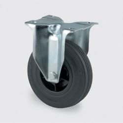 Transportrolle 200 mm, schwarzer gummi