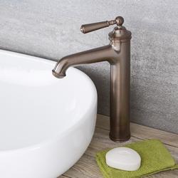 Hohe Einhebel Waschtischarmatur Traditionell in geölter Bronze - Colworth, von Hudson Reed