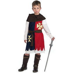 Kostüm Kreuzritter blau/rot Gr. 128/140 Jungen Kinder