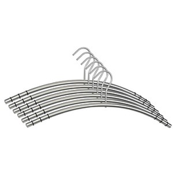 6 SZ Metall Metall Kleiderbügel silber