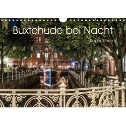 Buxtehude bei Nacht (Wandkalender 2021 DIN A4 quer)