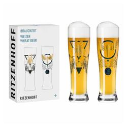Ritzenhoff Bierglas Brauchzeit Weizen 2er-Set 003, Glas