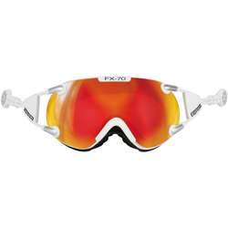 Casco Skibrille FX-70M Carbonic Weiß-Orange