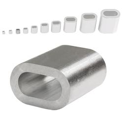 Aluminium Pressklemmen 2,5 mm 100 Stück Pressklemmen Alupressklemmen Presshülsen