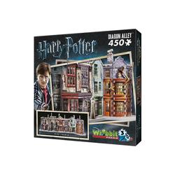Wrebbit 3D-Puzzle Wrebbit 3D Puzzle 450 Teile Harry Potter, Puzzleteile