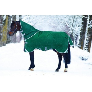 Horseware Rambo Original mit Leg Arches Pferdedecke 145cm ohne Füllung Green/Silver