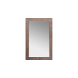 Rahmenspiegel Nora in braun/Rostoptik, 72 x 112 cm