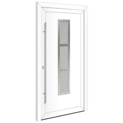 RORO Türen & Fenster Haustür Otto 15, BxH: 100x210 cm, weiß, ohne Griff