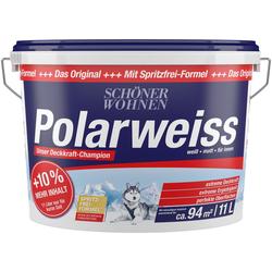 SCHÖNER WOHNEN FARBE Wand- und Deckenfarbe Polarweiß, Innenfarbe, Aktionsartikel mit +10% mehr Inhalt und Aktionscode