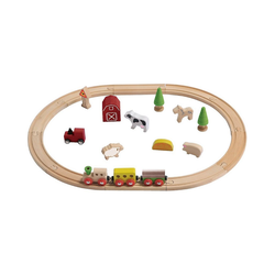 EverEarth® Spielzeugeisenbahn-Set Holz-Eisenbahn-Set Bauernhof