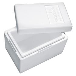 Isolierbox mit Deckel aus Styropor EPS, 330 x 225 x 225 mm, 7,3 Liter