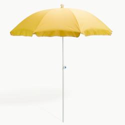 Strandschirm gelb 180 cm UV30 Sonnenschirm Gartenschirm Schirm