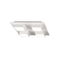 Fabas Luce LED-Deckenleuchte Lucas in grau, 35 cm