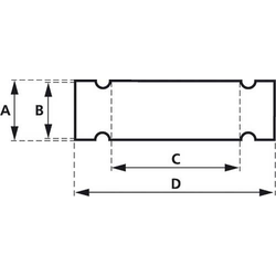 Zeichenträger mit Kabelbinder Montage-Art: Kabelbinder Beschriftungsfläche: 58 x 9.50mm