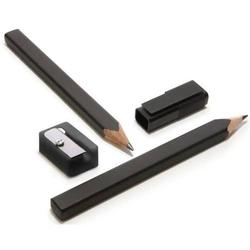 Bleistift-Set schwarz VE=2 Stifte, 1 Kappe, 1 Anspitzer