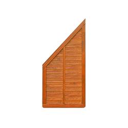 WOODTEX Sichtschutzzaun Alvaro Waldkiefer Schrägelement BxH: 178x93 cm, Farbe: lackiert Bankirai