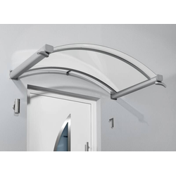 Bogenvordach Typ BV/B, 1600 x 900 x 300 mm, Farbe weiß - 17 kg