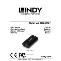 LINDY HDMI 2.0 18G UHD/HDR Repeater Ext