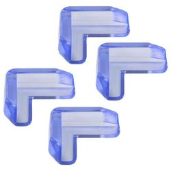H+H Schutz-Set BS 858 Kantenschutz für Glastisch, 4er Pack (4 Stück), praktischer Tischkantenschutz, Schutz für Tischecken am Glastisch