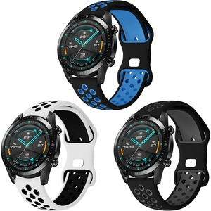 Hatolove Armband für Huawei GT 2 46mm, 22mm Weiche Silikon Sport Armbänder Ersatz für Huawei GT 2/ GT 2e/Huawei Watch GT/Active/GT 2 Pro/Samsung Galaxy Watch 3 45mm/Galaxy Watch 46mm/Gear S3 Frontier