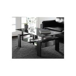 Merax Couchtisch, Glastisch, Wohnzimmertisch schwarz