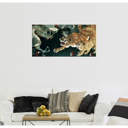 Posterlounge Wandbild, Ein Drache und zwei Tiger 80 cm x 40 cm
