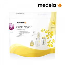 Medela Quick-clean Mikrowellenbeutel Sterilisator Für Babyflaschen Sauger Und Stillzubehör In Der Mikrowelle Bis Zu 20 Mal Verwendbar 5 Stück