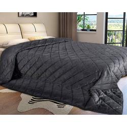 Tagesdecke, Woltu, Tagesdecke Bettüberwurf kariert grau 240 cm x 260 cm