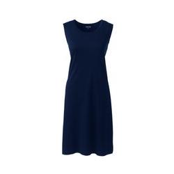 Knielanges Supima-Nachthemd, ärmellos - L - Blau