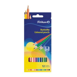 Buntstifte Standard dreieckig 12 Farben sortiert